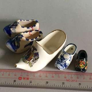 荷蘭 瓷器造 船鞋 印有皇室章最大那個是英國製瓷器