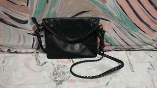 AGNES B leather crossbody bag (sport b)