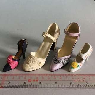 迷你 女裝鞋 擺設 高跟 high heel 裝飾品 set2