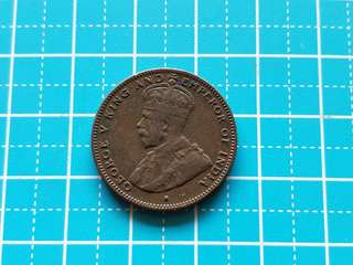 Strait settlement King George v half cent coin 1916