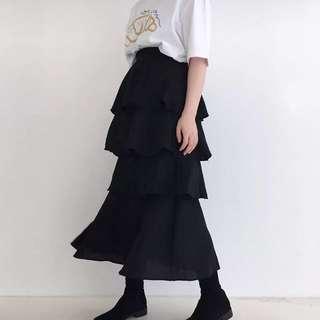 韓國款黑色蛋糕裙