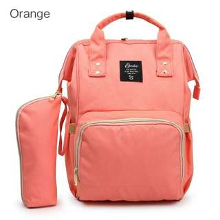 🚚 ❤ On-hand: 2 Pcs Set Baby Diaper Bag / Mommy Bag ( Orange )
