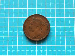 Strait settlement Queen Victoria one cent coin 1873