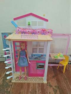 Barbie 2 Story House - Doll and Playset