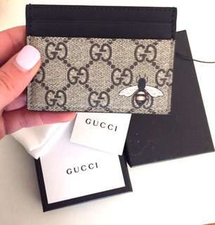 Gucci GG bee cars holder wallet
