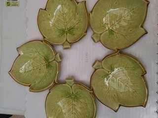 Japanese leaf saucers