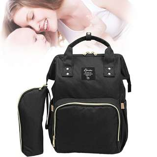 ❤ On-hand: 2 Pcs Set Baby Diaper Bag / Mommy Nursing Bag ( Black)