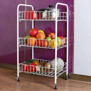 3 layer wheel food rack organizer