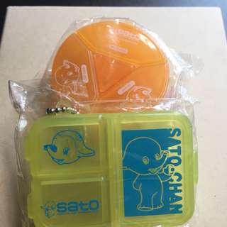 Sato 鎖匙扣藥盒 包平郵