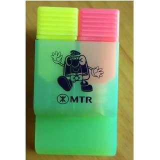 MTR ~ 文件夾 + 螢光筆 ~ 絕版 紀念品 地鐵公司