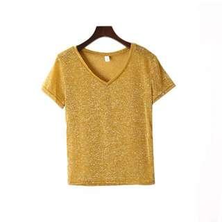 Yellow Glitter Top