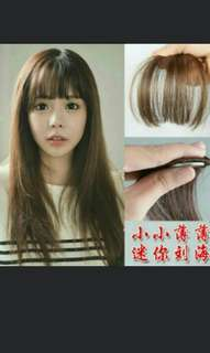 *Best selling Preorder Korean Air Fringe Bang Clip On Avali In 4 Colour   Waiting Time 14days After Payment Is Made   Pm If Int