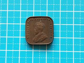 Strait settlement King George v one cent coin 1920