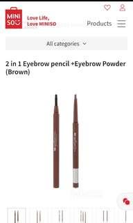 2in1 eyebrow pencil+ eyebrow powder