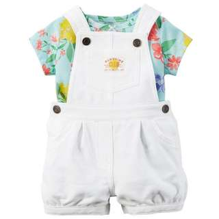 BN Carter's shortall set (baby girl)