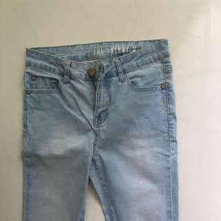 """cotton on """"the skinny mid rise"""" denim jeans"""