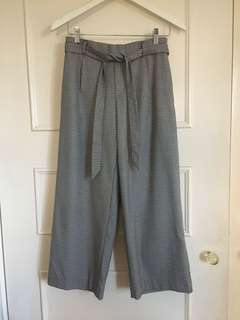 Zara checkered houndstooth pants