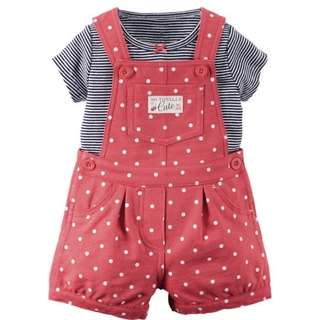 BN Carter's 2 Piece Shortall set (baby girl)
