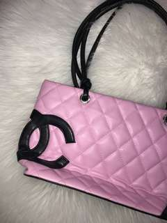 AUTHENTIC quilted pink Chanel bag