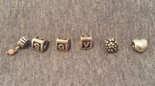 Authentic Pandora Silver Charms