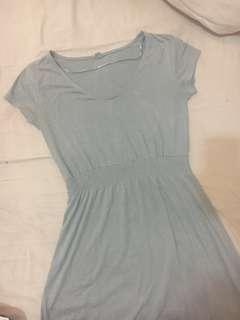 UNIQLO Blue Grey Midi Dress