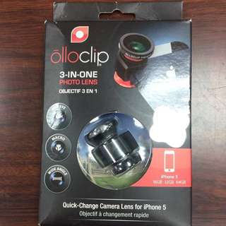 原裝Olloclip 3-in-one photo lens for iPhone 5/5S三合一拍攝鏡頭