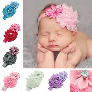 Pearl and Rhinestone Flower Headband