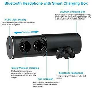 Dual Stereo Headset Wireless Earbuds
