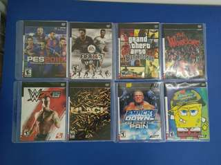 SONY PS2 DVD GAMES (NEW)