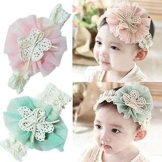Flower with Bow Headband
