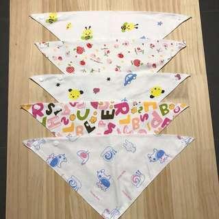 BN triangular baby bibs (set 3)
