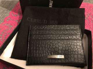 Cerruti 1881 leather name card credit card holder