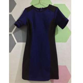 Body Fit Formal Dress (black & blue)