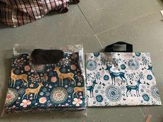 🆕靚料雙面圖案 鹿膠袋40個 手挽袋