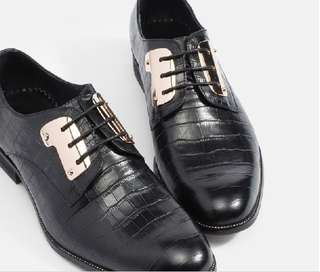 Mac & Gill Croc-Skin Gilded-Steel Lace-Up Shoes 40-45