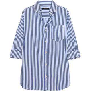cotton on blue and white striped blouse