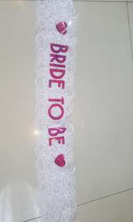Sash Bride To Be (Bridal Shower)