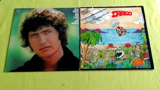 MEN AT WORK . cargo ● MAC DAVIS . all the love in the world . ( buy 1 get 1 free )  vinyl record