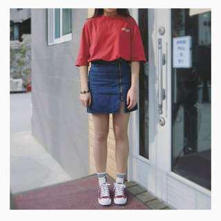 🚚 牛仔開衩短裙#女裝88