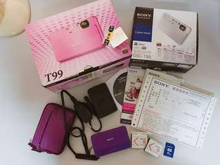 🚚 Sony T99數位相機/1410畫素/柔膚等功能(燦坤購入)