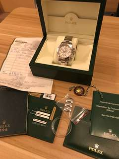 Rolex Daytona 888 95% new full set 116520