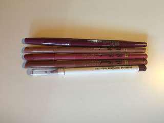 High end lip liners