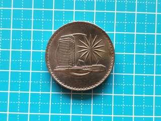 Malaysia one dollar coin 1971