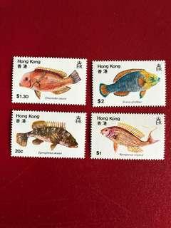 香港郵票-香港魚類郵票一套