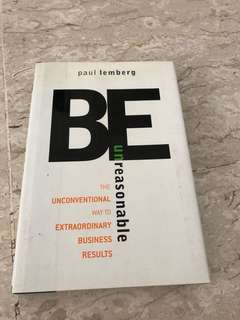 Book Clearance - Be Unreasonable