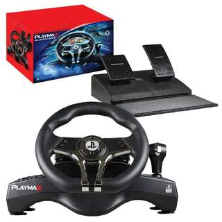 playmax hurricane steering wheel for ps3 and ps4