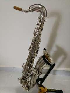 Vintage BUESCHER C Melody Saxophone. Silver plate!