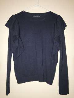 Abercrombie & Fitch Sweater with Ruffles