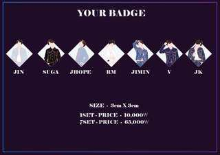 [SHARE PO] BTS LOVE YOURSELF 轉 'Tear' R version Enamel Badge Pin
