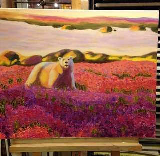 Oil paint frame inclusive